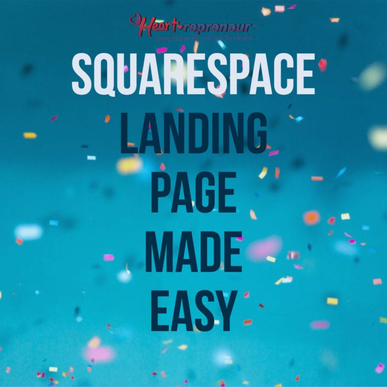 SquareSpace Landing Page Made Easy