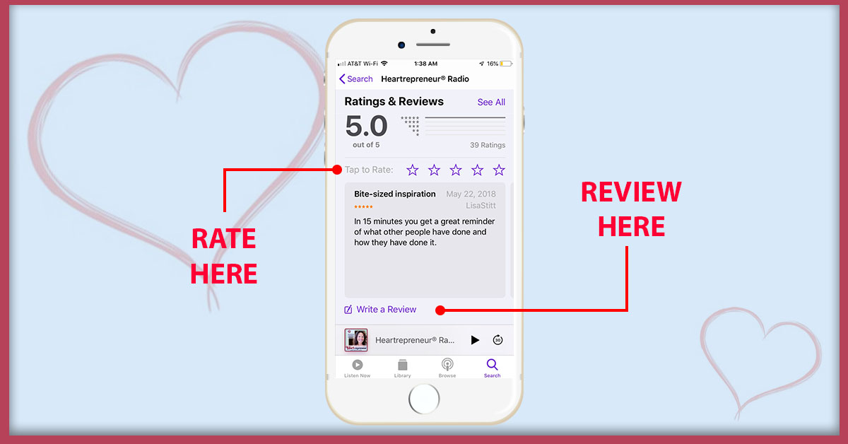 """HPR Rate Review Images Rating Reviews - How To Subscribe & Rate Our Podcast """"5-stars"""" On iTunes"""