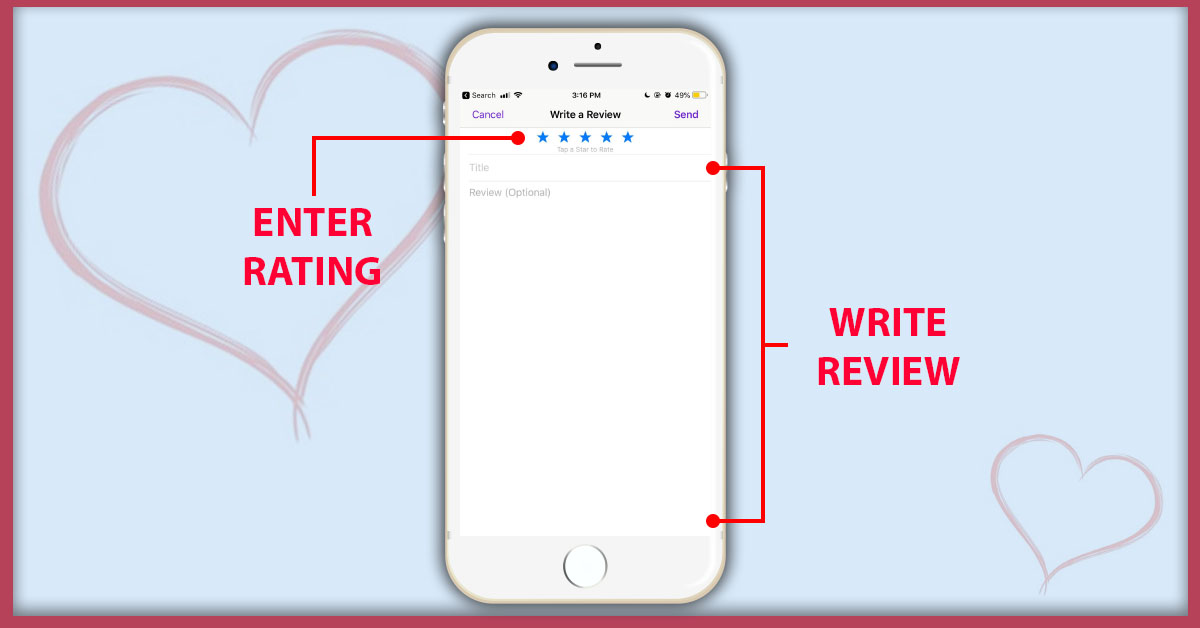 """HPR Rate Review Images Write a Review - How To Subscribe & Rate Our Podcast """"5-stars"""" On iTunes"""