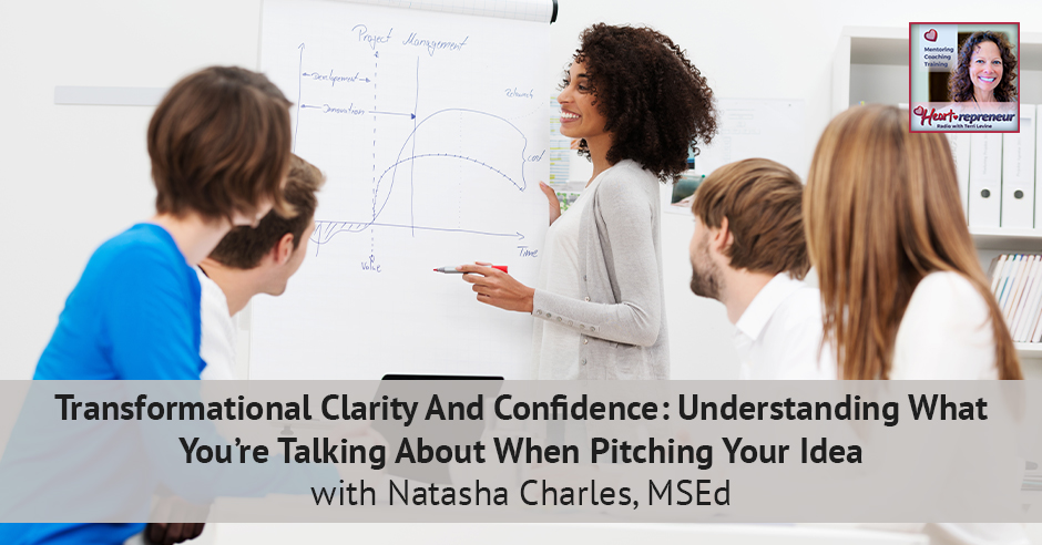 200HPRbanner - Heartrepreneur® Radio | Episode 200 | Transformational Clarity And Confidence: Understanding What You're Talking About When Pitching Your Idea With Natasha Charles, MSEd